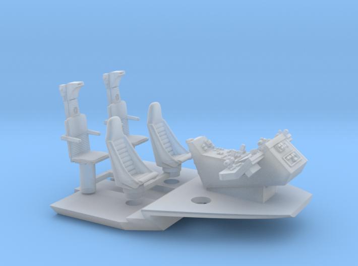 YT1300 CABIN SEATS CONSOLE FLOOR MPC/ERTL 3d printed