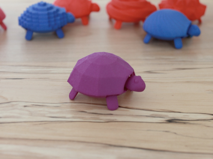 Squishy Turtle - Faceted 3d printed