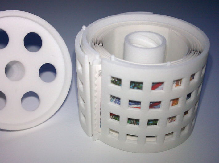 stamp roll dispenser The Postmaster guided 3d printed