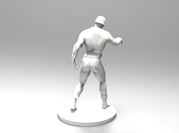 Zombie soldier 3d printed