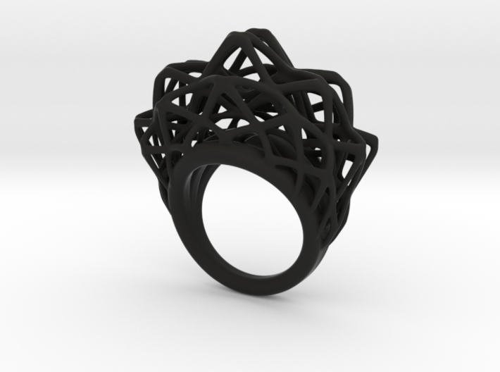 lace_ring_by_parametricart 3d printed