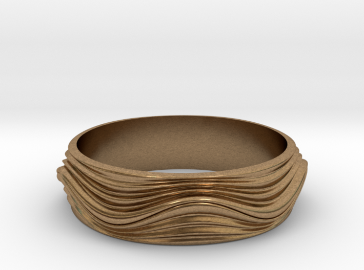 Ebb and Flow Ring No. 8  - Ripple, Size 7 3d printed