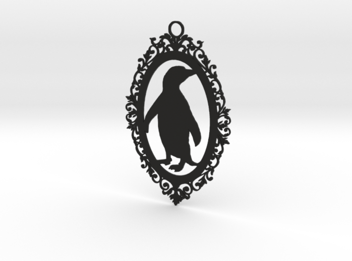 Penguin wall plaque 3d printed