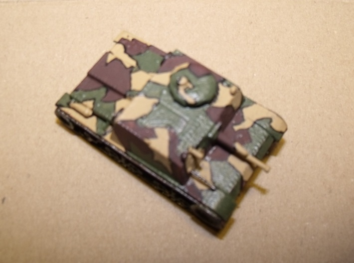 1/56th scale Skoda T32 3d printed Painting and photo by Paul Stojanovic.