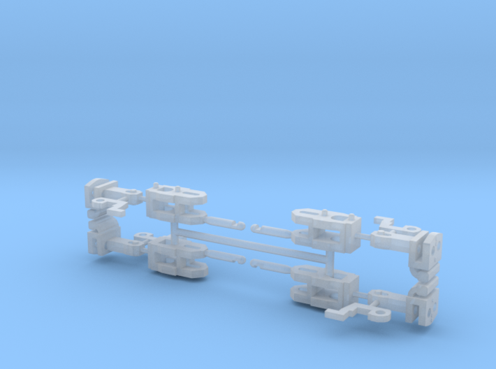 4x Coupplers H0 Scale 3d printed