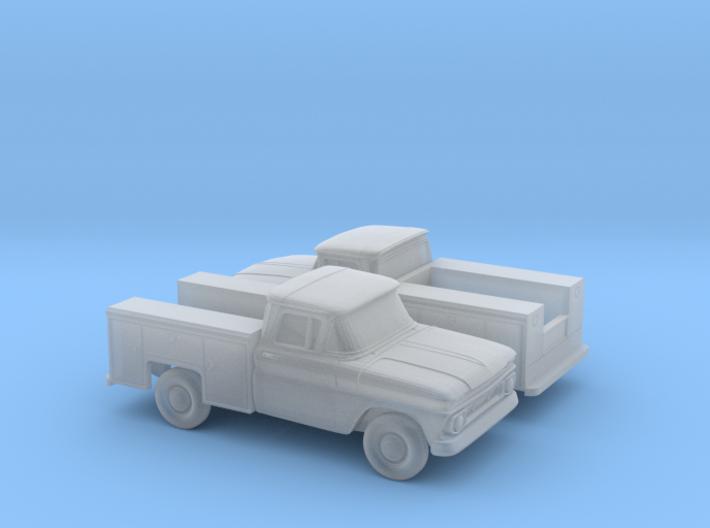 1/160 2X 1962 Chevrolet C-Series Utility 3d printed