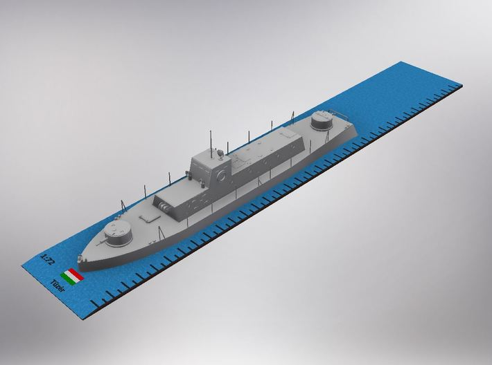 1/72nd scale Tuzer hungarian armoured river boat 3d printed
