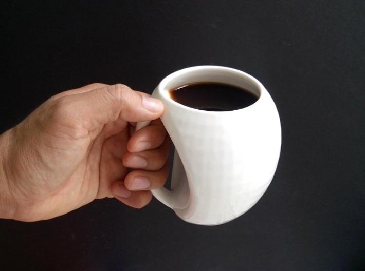 egg mug 3d printed Glazed Ceramics