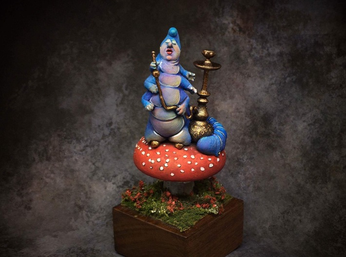 Who are You? Alice In Wonderland Caterpillar 3d printed Painted by Shoshie