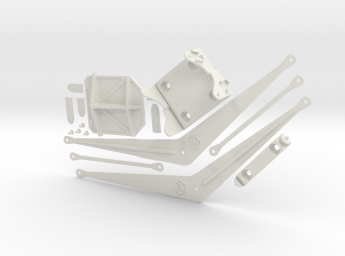HO Scale End-Of-Track Drawgate Kit 3d printed
