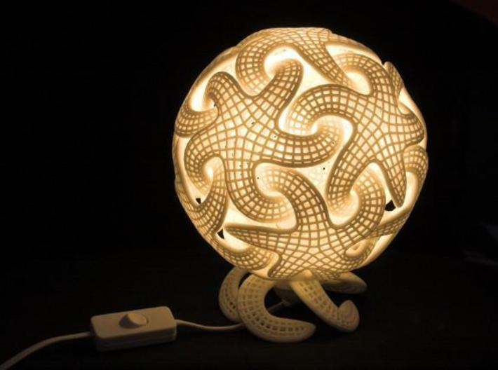 Starfish lamp 3d printed