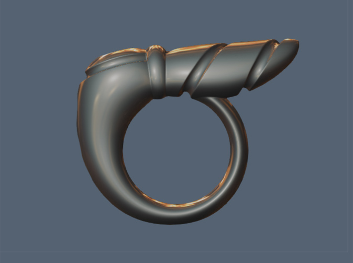 Chrysalis Ring 1 - Size 9 (18.95 mm) 3d printed