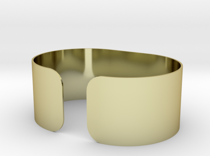 Wide band bracelet 3d printed