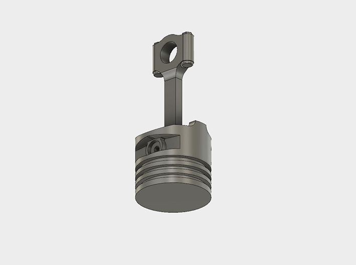 Piston Keychain(4G93T Inspired)(10mm)FlatTop Solid 3d printed