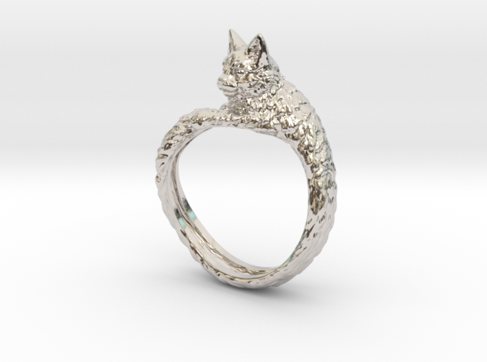 Cat Ring 3d printed