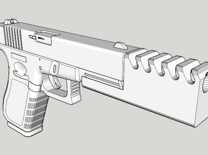 Frame Mounted Pistol Compensator for G17 and G18c 3d printed