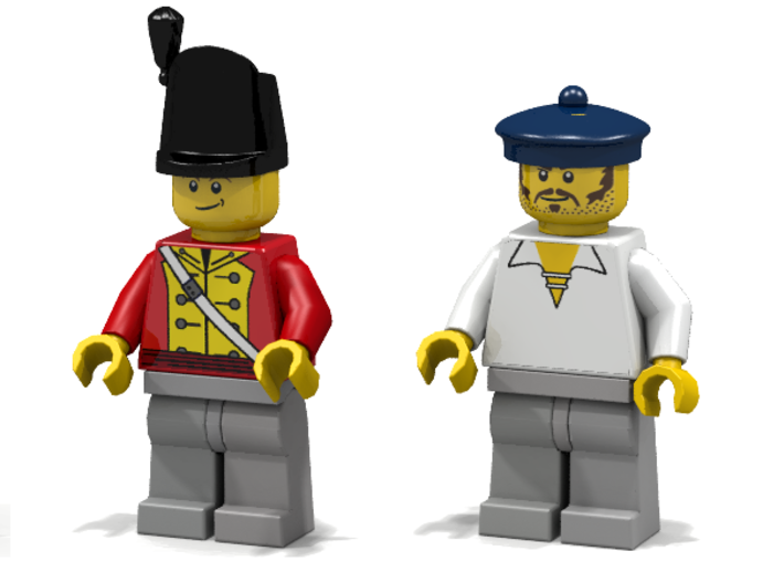 6 x Royal Marine Hats 3d printed Figures from Master and Commander (Render: