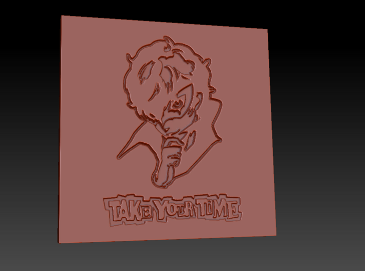 Persona 5 'Take Your Time' Themed Coaster  3d printed