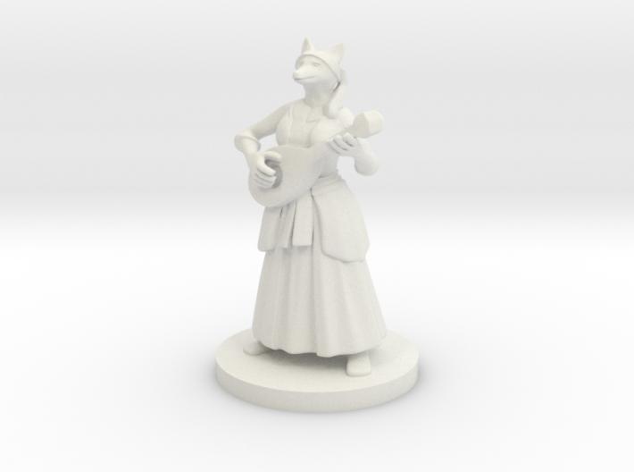 Kitsune Bard 3d printed