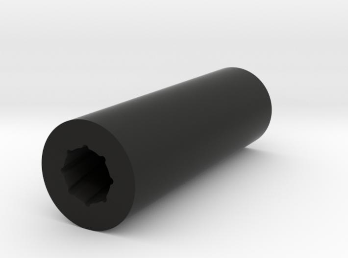 Rifled Silencer 3d printed