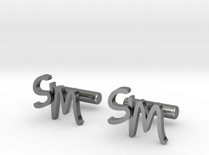 Cuff links SM 3d printed