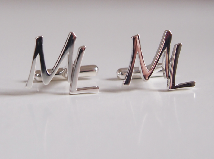 Cuff links ML 3d printed
