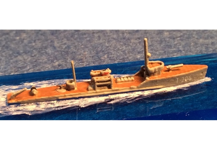 1/1800th scale Fugas class soviet minelayer ship 3d printed Photo and painting by Scott C.