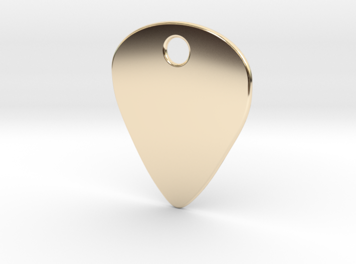 Metal Guitar Pick Pendant 1mm 3d printed