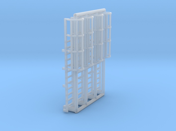 N Scale Cage Ladder 24mm (Top) 3d printed