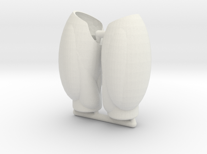 Human Exo-Skin Thigh Set for ModiBot Mo Figure 3d printed Human Exo-Skin Thigh Set for ModiBot Mo Figure