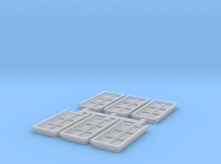 Door - N ( 1:160 scale ) 6 pcs set 3d printed