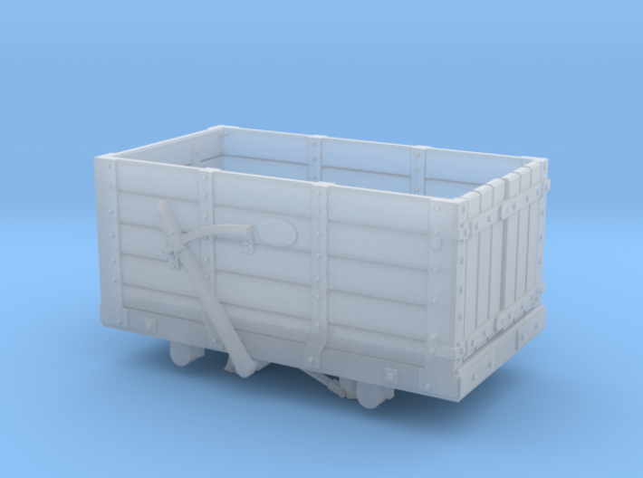 FR 5 Plank Wagon 4mm Scale 3d printed
