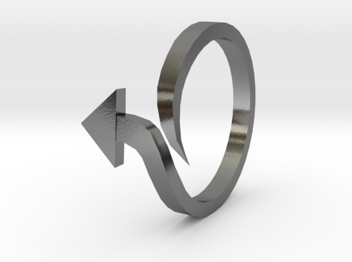 Arrow Ring (Size 6) 3d printed