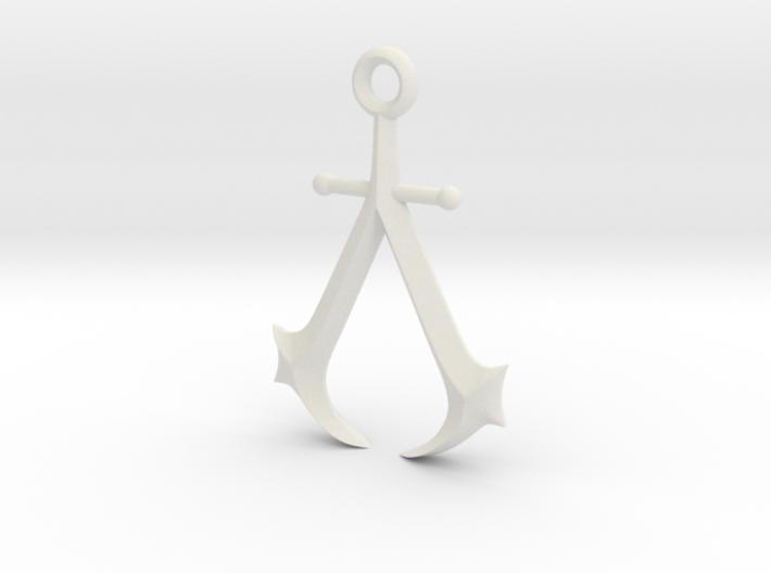 New England Assassin's Emblem 3d printed