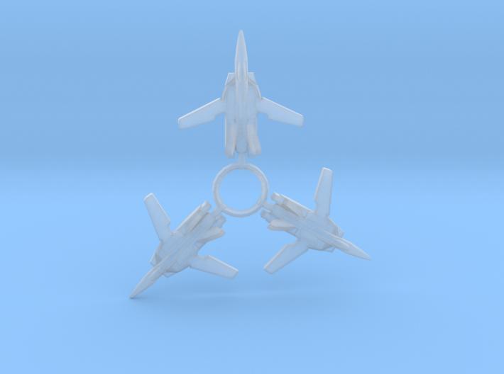 3X VF-1S 1/1000 3d printed