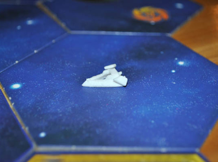 Robotic Destroyer 3d printed A destroyer patrols the outer systems in a game of Twilight Imperium 3