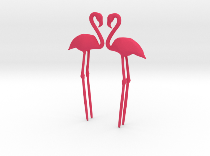 Flamingo Cake Topper 2X 3d printed