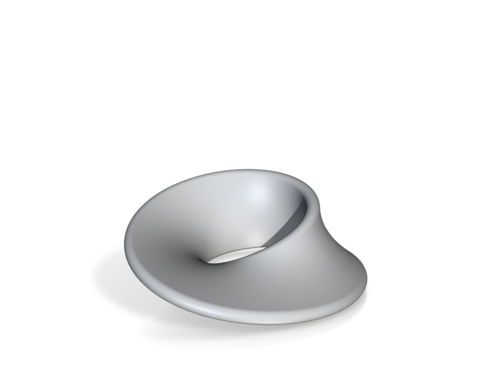 Minimal Mobius Porcelain (4 in) 3d printed