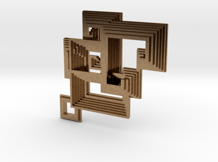 Bismuth pendant 3d printed