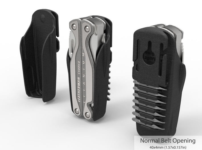 Holster for Leatherman Charge+ TTI, Closed Loop 3d printed Tool not included