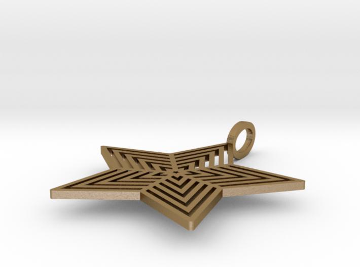 Star Pendant  'Radiant Star' 3d printed
