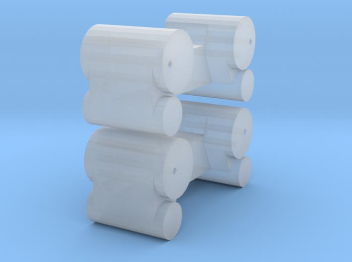 Ricks 58 cylinders HOn30 3d printed