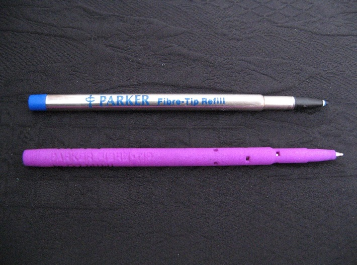 Adapter: Parker Fibre-Tip to D1 Mini 3d printed (refills not included)