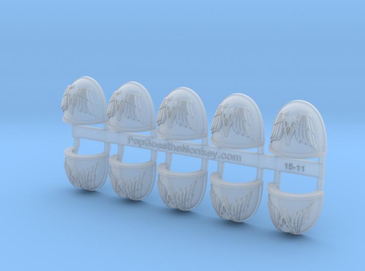 Death Ravens - G4 Shoulder Pads x10 3d printed