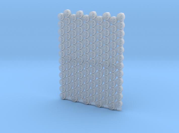 4804 - 1/48'+' type padeyes, closed bottom, 120pc 3d printed