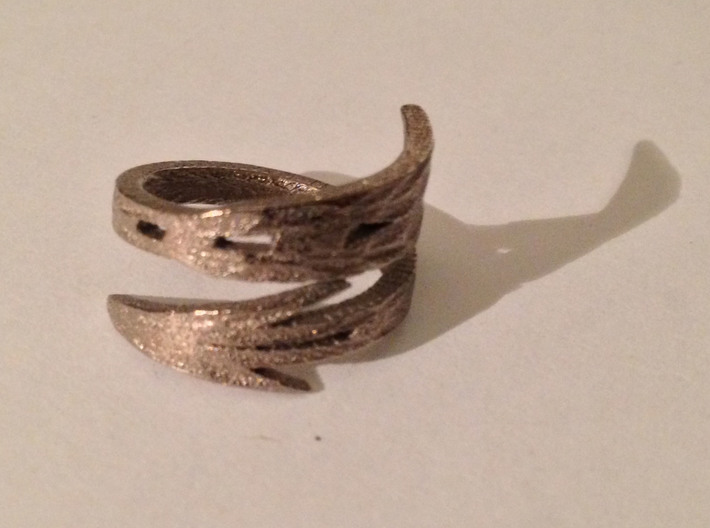 Rigid Pi Phi Arrow Ring 3d printed