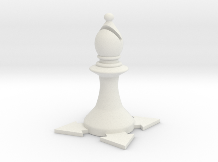 Instructional Chess Set - Bishop 3d printed