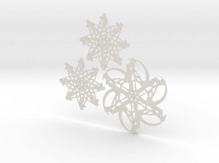 Moonflake Set 3d printed
