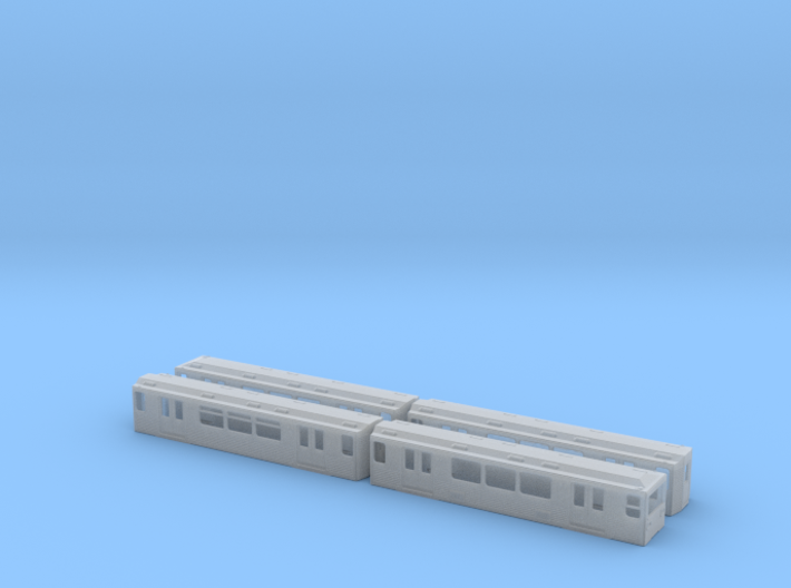 Berlin Baureihe G H0 [4x body] 3d printed