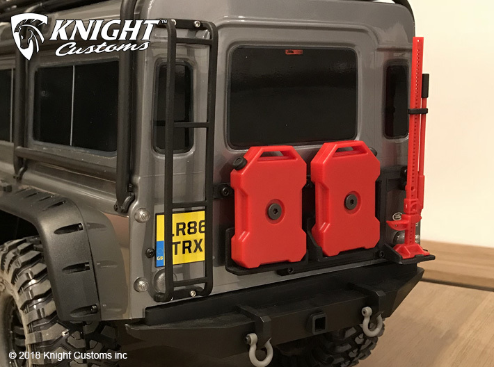 TR10013 TRX-4 rear door mount Type1 3d printed Part shown installed on the Traxxas TRX-4 Defender (sold seperately)